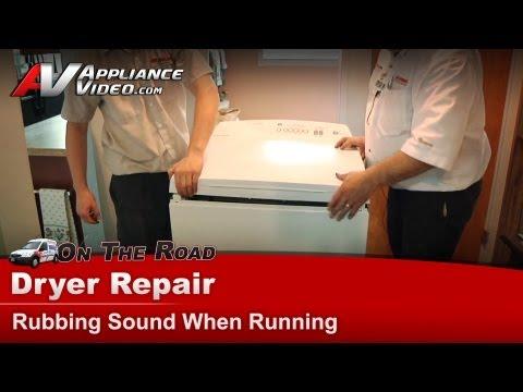 Dryer Repair - Rubbing Sound When Running -FisherPaykel - DEGX1