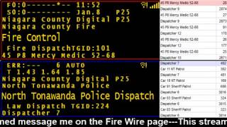 01/08/18 PM Niagara County Police & Fire Scanner Stream Fire Wire