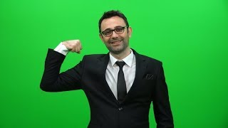 Businessman Shows His Muscles, Strength and Power Concept | Stock Footage - Videohive