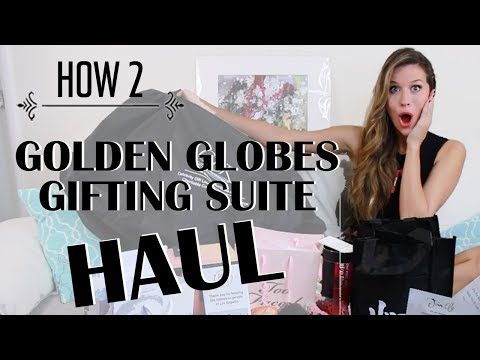 Golden Globes Gifting Suite Haul | Travel Style | How 2 Travelers