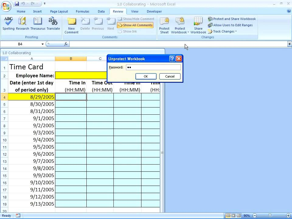 Excel 2007 protecting workbooks worksheets cells youtube ibookread