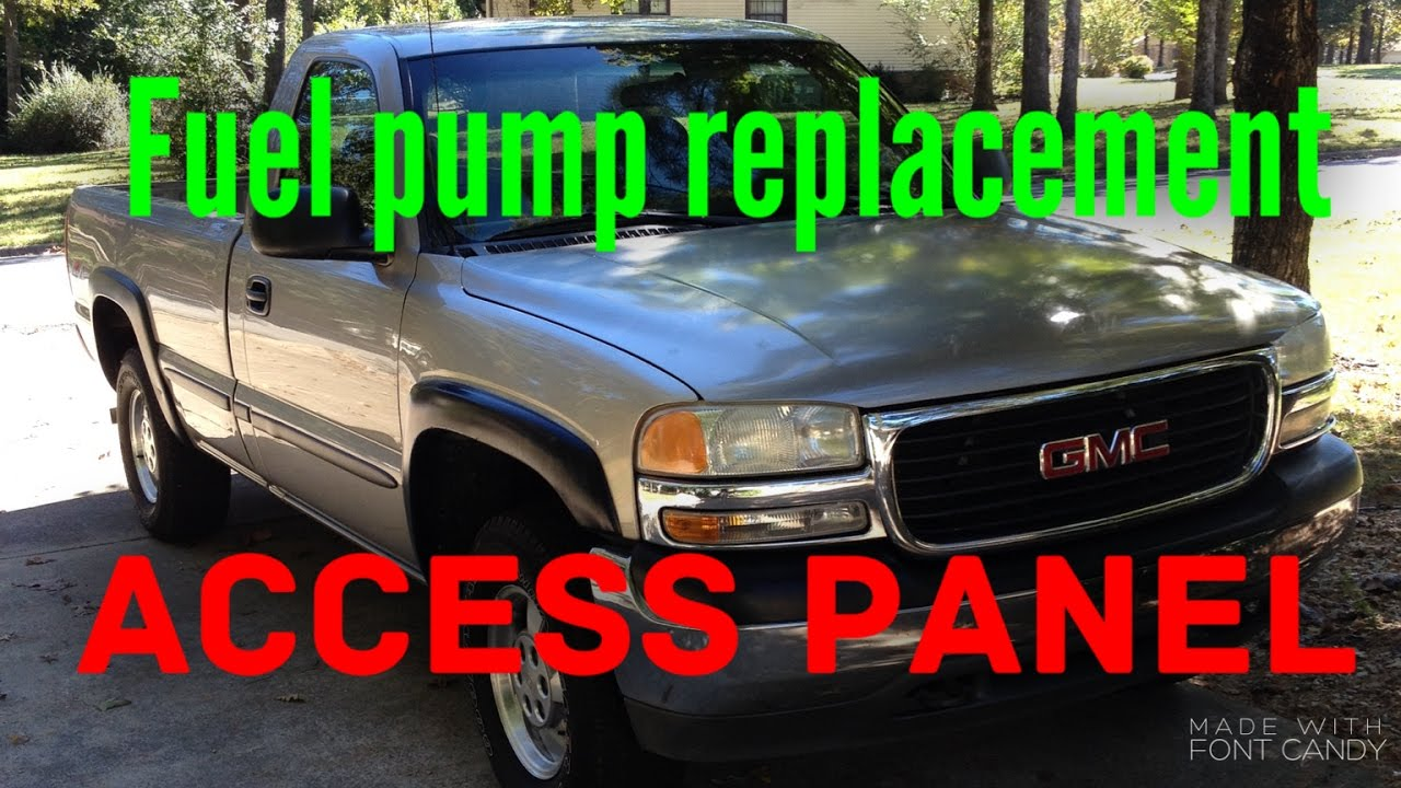 How To Change A Fuel Pump On A 2000 Gmc Sierra Youtube