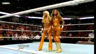 Kelly Kelly & Eve Torres vs Bella Twins- WWE RAW 01/02/12
