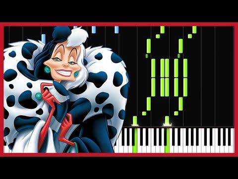 Cruella de Vil  101 Dalmatians Piano Tutorial Synthesia  Marco Tornatore