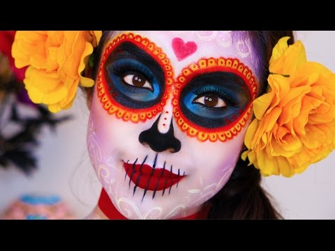 The Book Of Life La Muerte Makeup Tutorial Dia De Los Muertos - Day-of-the-dead-makeup-tutorial-video