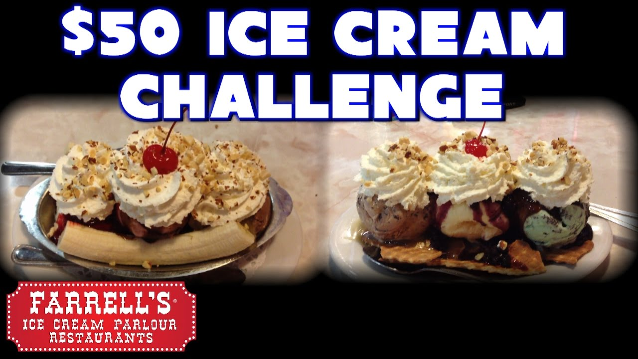 $50 Ice Cream Eating Challenge at Farrell's Vs FreakEating ...