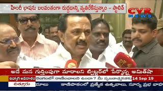 We Have Been Continuously Waging Protest Against Imposition of Hindi Says MK Stalin | CVR News