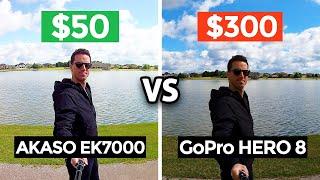 $50 Action Camera vs $300 GoPro 8! (Akaso EK7000 4K)