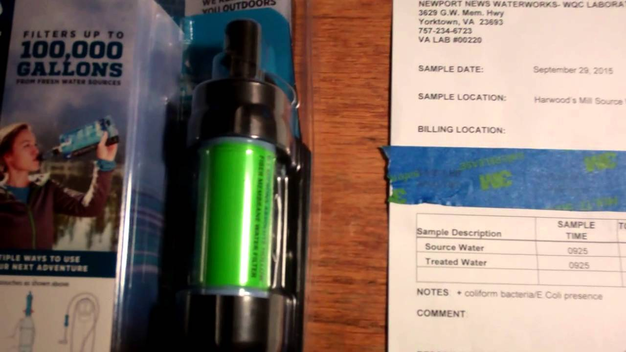 Sawyer Mini Water Filter Review - Great Water Filter For