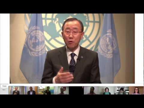 Google+ Hangout with UN Secretary-General Ban Ki-moon