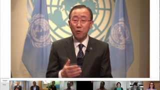 Google+ Hangout with UN Secretary-General Ban Ki-moon