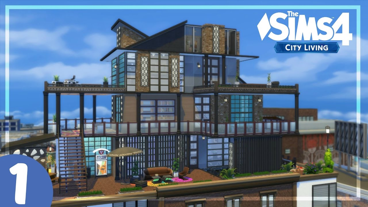 The sims 4 city living house building penthouse for Home building blog