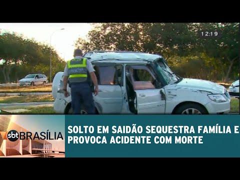 Preso em saidão sequestra família e provoca acidente com morte | SBT Brasília 13/08/18