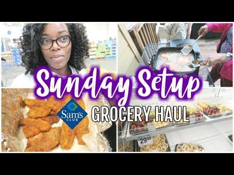 A Fish Fry 🐟 Sam's Club GROCERY HAUL 🏠 Sunday Setup