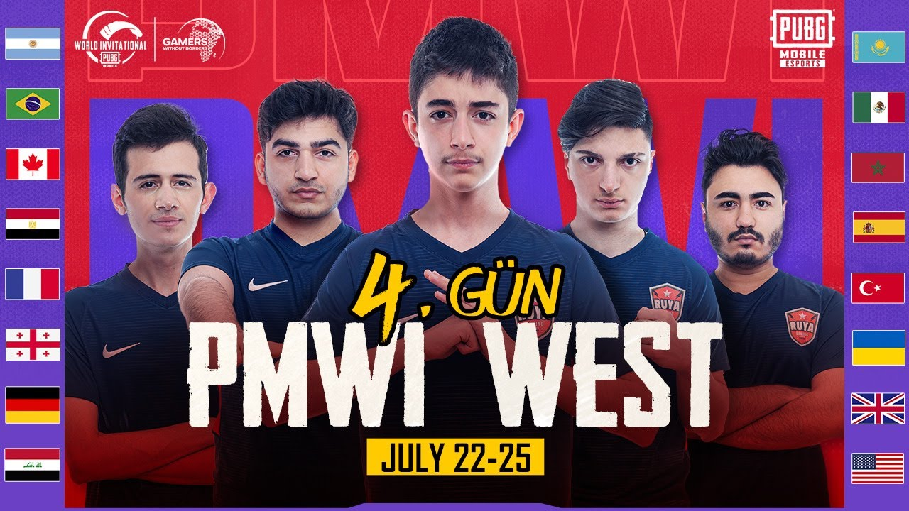 [TR] PMWI 2021 Batı 4. Gün | Gamers Without Borders | PUBG MOBILE World Invitational