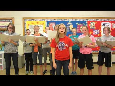 "Sioux Center Christian School girls choir sings ""The Star Spangled Banner"""