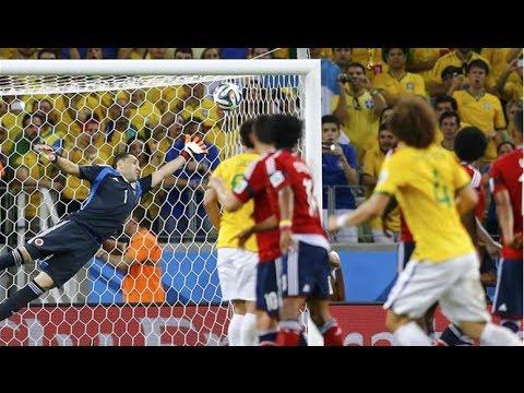 David Luiz Free Kick VS Colombia