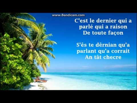 Amina - Le dernier qui a parlé (Lyrics / Paroles / Pûrals) FRENCH / GRIGANT