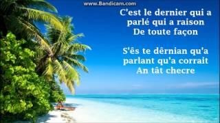 Amina - Le dernier qui a parlé (Lyrics / Paroles / Pûrals) FRENCH / GRIGANT