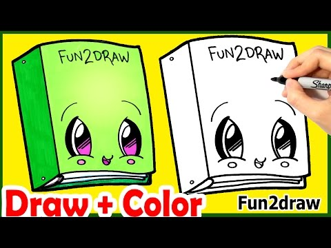 Back To School How To Draw Cute Binder Step By Step Easy Color
