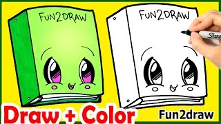 Back to School Cutie! How to Draw Cute Binder Step by Step Easy + Color - Fun2draw