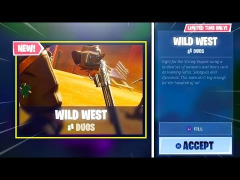 New WILD WEST LTM GAMEMODE + DYNAMITE GAMEPLAY in Fortnite! (NEW Fortnite Battle Royale Update Live) thumbnail