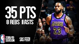 LeBron James 35 Points, 11 Assists at San Antonio Spurs - Full Highlights 07/12/2018