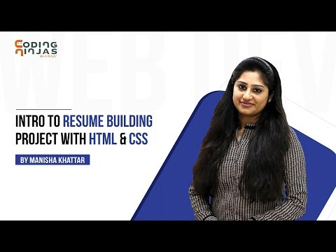 Intro To Resume Building Project With HTML & CSS
