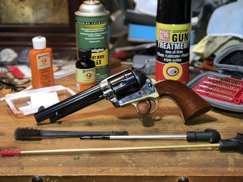 Basic Firearms Cleaning and Disassembly - Colt 1873 SAA Replica (Uberti Cattleman II)
