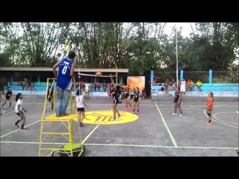 Santa Barbara NCHS vs Brgy Malawog - volleyball 13 Mar 2016