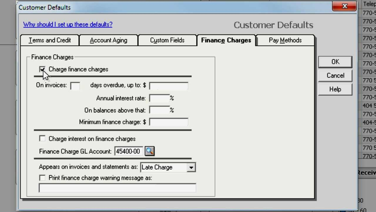 setting up finance charges in sage 50 accounting youtube