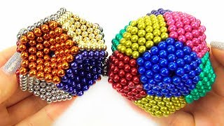 Playing with 1000 mini magnetic balls | Learn colors magnetic balls for Kids | How to make shapes