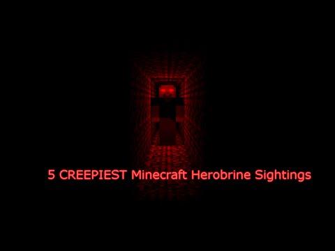 5 CREEPIEST Minecraft Herobrine Sightings!!!!