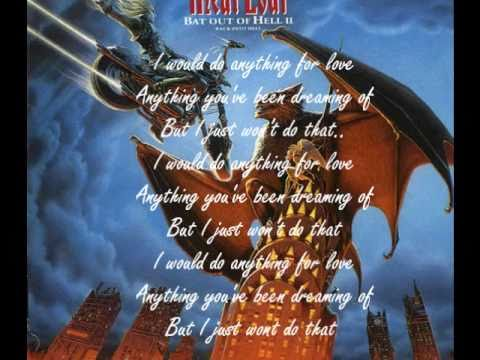 I'd Do Anything For Love (But I won't Do That) - Meatloaf ...