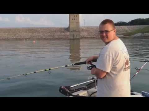 Fishing Raccoon Lake For Indiana Stripers