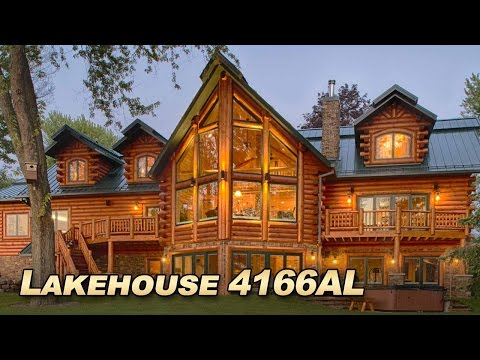 Lakehouse 4166AL Luxury Log Home With Over 6000 Sq Ft Of Spacious Living, Custom Gourmet Kitchen