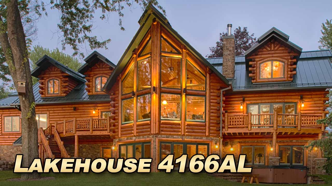 Lakehouse 4166al luxury log home with over 6000 sq ft of for Custom luxury log homes