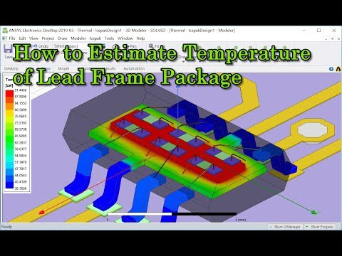 How to Estimate Temperature of Lead Frame Package