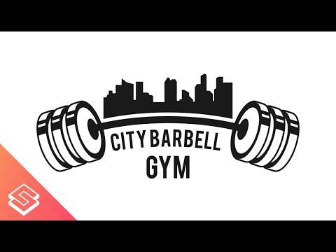 Inkscape Tutorial: Barbell/Skyline Logo