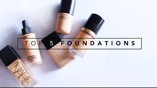 MY TOP 5 FOUNDATIONS