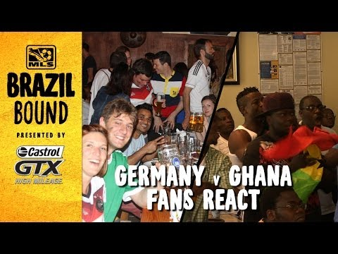 Germany and Ghana fans react to shock result   Brazil Bound