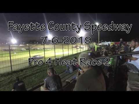 Fayette County Speedway Pro 4 Heat 2 7-6-2019