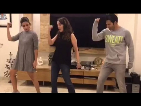 Video: Madhuri Dixit Teaches Varun And Alia Tamma Tamma Dance Steps !!