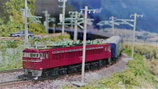 Nゲージ鉄道模型 EF70_12系・旧客10系急行列車