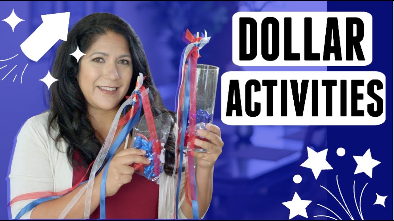 DOLLAR TREE Easy DIY ACTIVITIES You Will WANT To Do - Fourth of July