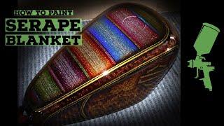 Serape Mexican Blanket Candy Paint Job Tutorial, Harley Davidson Metal Flake gas tank