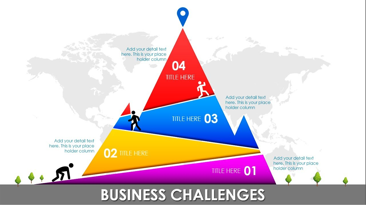 4 Steps Mountain Concept Powerpoint Template Business Challenges Goals Target Free Download Youtube