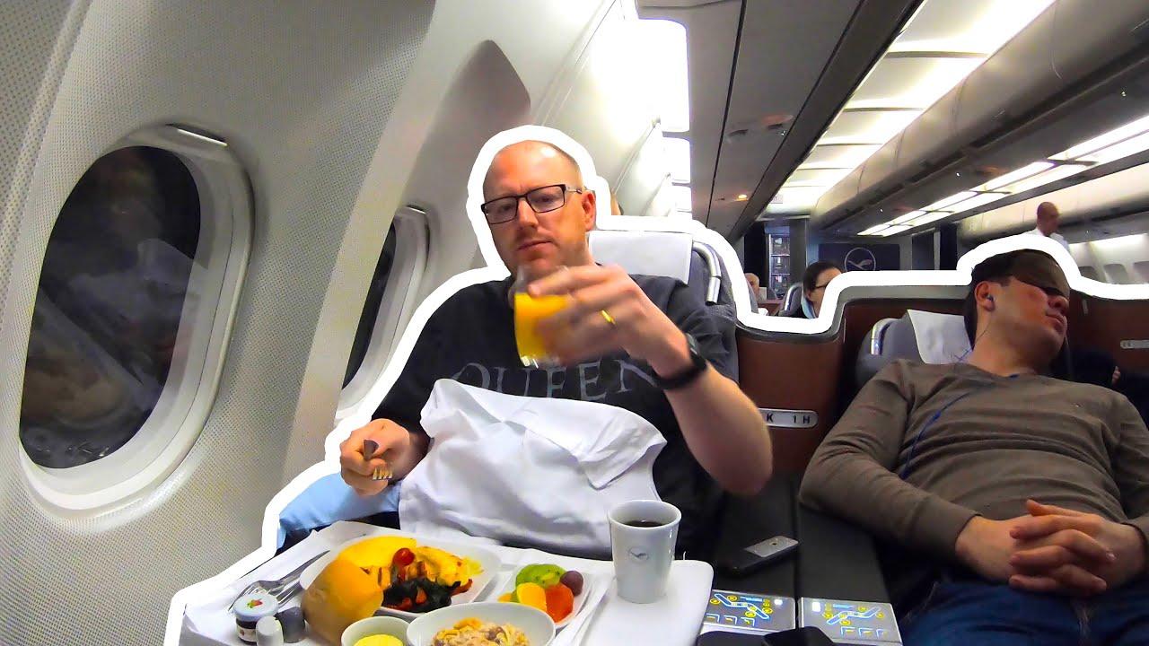 Lufthansa A340 Business Class Review: CHEAP BUSINESS CLASS ...
