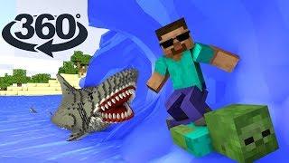 Download Monster School 360º : HEROBRINE VACATION TRIP - Minecraft Animation