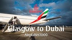 Emirates Boeing 777-300ER A6-ENL Glasgow to Dubai Flight Report *FULL FLIGHT*